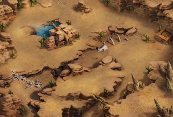 沙漠地图简笔画